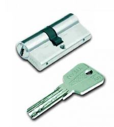 TITAN K5 biztonsági hengerzárbetét 55/75, nikkelezett, 5-kulcsos