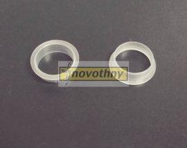 Kilincsgyűrű, műanyag, 18mm-es, átlátszó